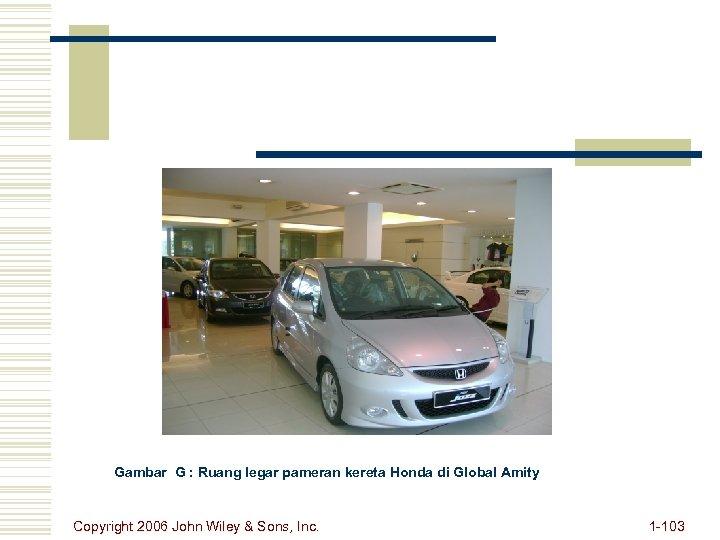 Gambar G : Ruang legar pameran kereta Honda di Global Amity Copyright 2006 John