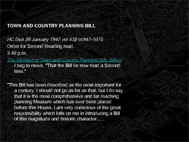 TOWN AND COUNTRY PLANNING BILL HC Deb 29 January 1947 vol 432 cc 947