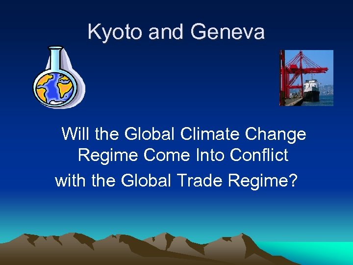 Kyoto and Geneva Will the Global Climate Change Regime Come Into Conflict with the