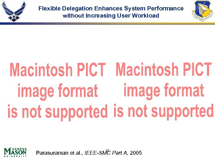Flexible Delegation Enhances System Performance without Increasing User Workload 10 Parasuraman et al. ,