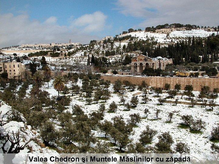 Valea Chedron şi Muntele Măslinilor cu zăpadă