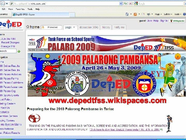 www. depedtfss. wikispaces. com