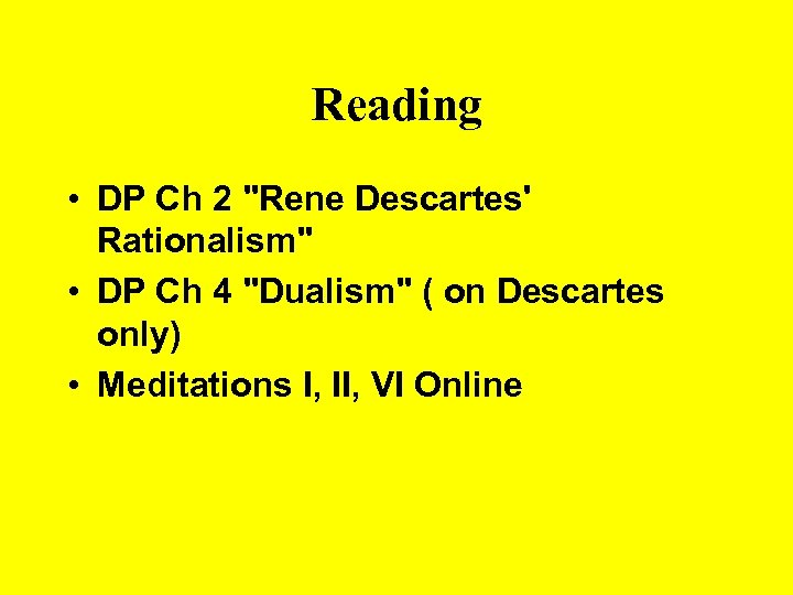 Reading • DP Ch 2