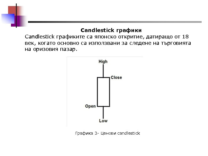 Candlestick графиките са японско откритие, датиращо от 18 век, когато основно са използвани за