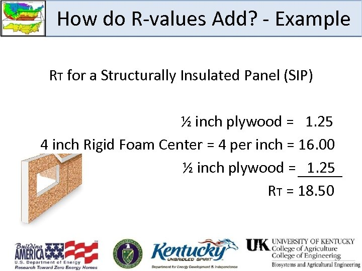 How do R-values Add? - Example RT for a Structurally Insulated Panel (SIP) ½