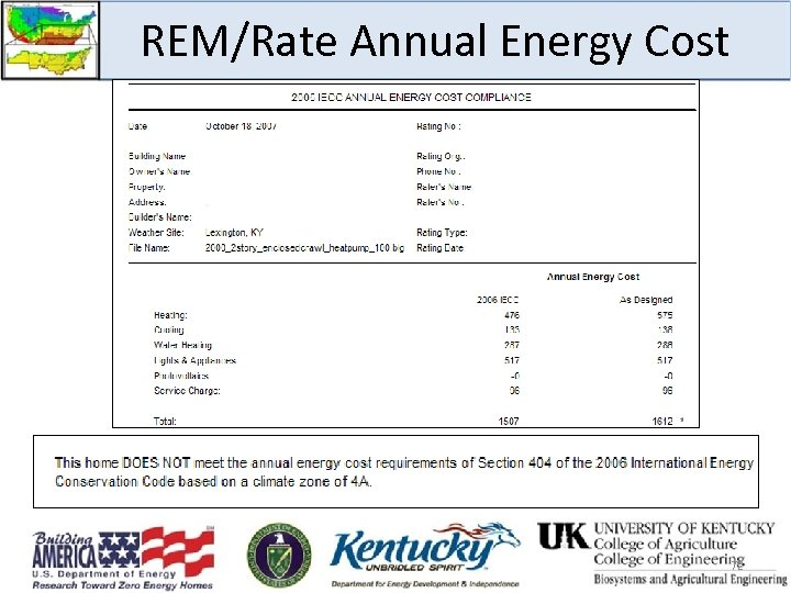 REM/Rate Annual Energy Cost 72
