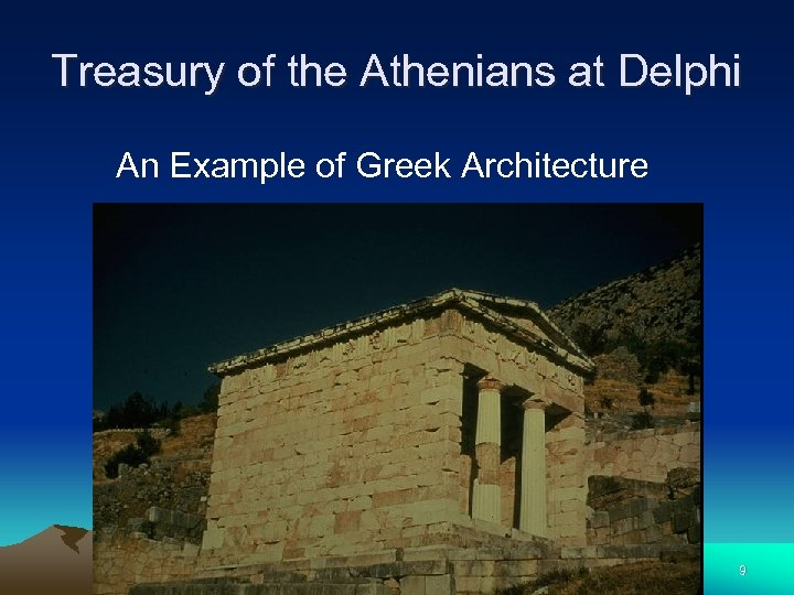 Treasury of the Athenians at Delphi An Example of Greek Architecture 9