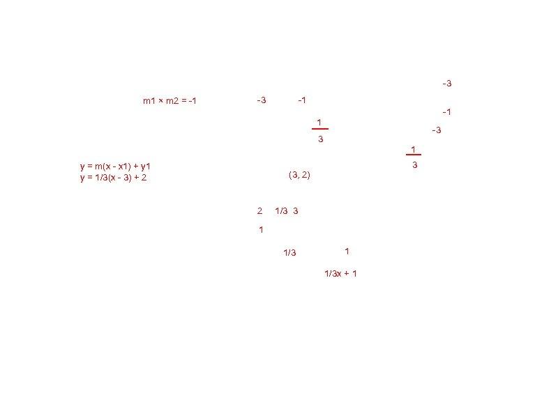 -3 m 1 × m 2 = -1 -3 -1 -1 1 -3 3