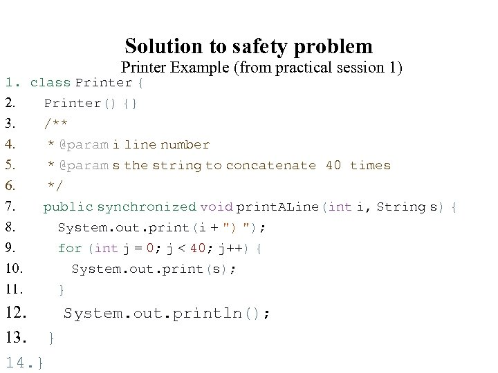 Solution to safety problem 1. 2. 3. 4. 5. 6. 7. 8. 9. 10.