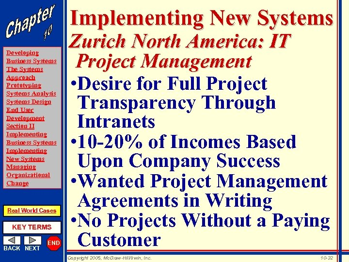 Implementing New Systems Developing Business Systems The Systems Approach Prototyping Systems Analysis Systems Design