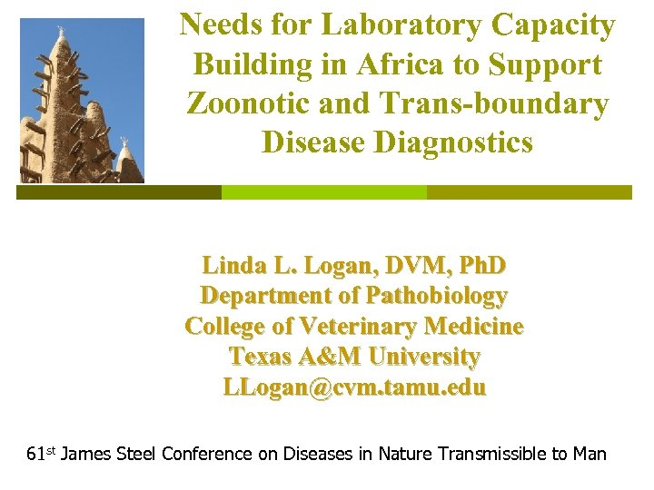 Needs for Laboratory Capacity Building in Africa to Support Zoonotic and Trans-boundary Disease Diagnostics