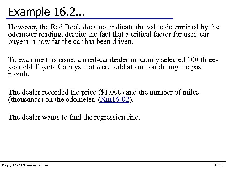 Example 16. 2… However, the Red Book does not indicate the value determined by