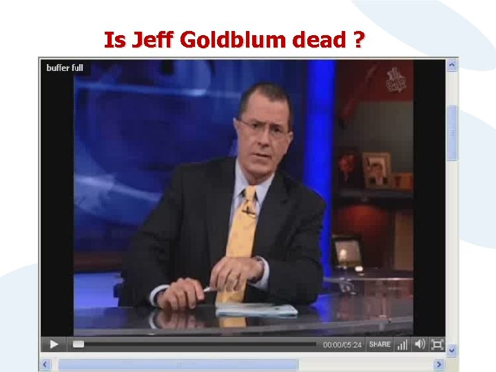 Is Jeff Goldblum dead ?