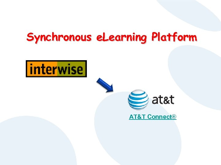 Synchronous e. Learning Platform AT&T Connect®