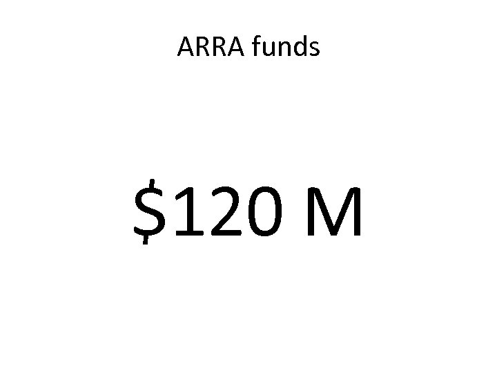ARRA funds $120 M