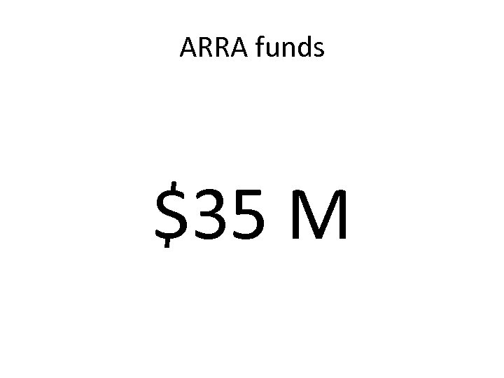 ARRA funds $35 M