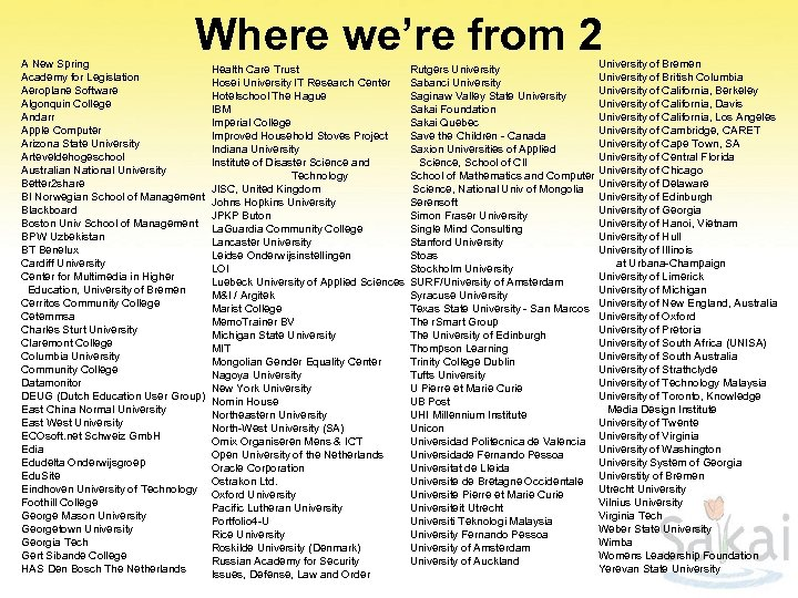 Where we're from 2 A New Spring Academy for Legislation Aeroplane Software Algonquin College