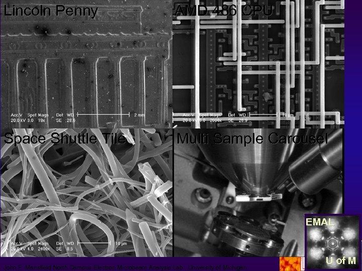 Lincoln Penny AMD 486 CPU Space Shuttle Tile Multi Sample Carousel EMAL John F.