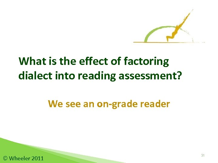 What is the effect of factoring dialect into reading assessment? We see an on-grade