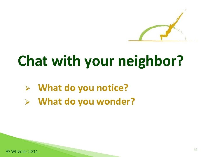 Chat with your neighbor? Ø Ø © Wheeler 2011 What do you notice? What