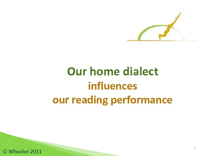 Our home dialect influences our reading performance © Wheeler 2011 7
