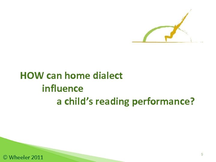 HOW can home dialect influence a child's reading performance? © Wheeler 2011 9