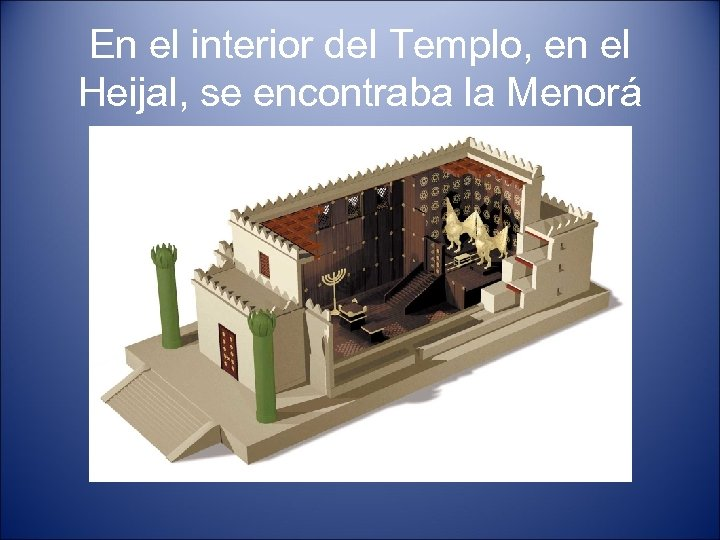 En el interior del Templo, en el Heijal, se encontraba la Menorá