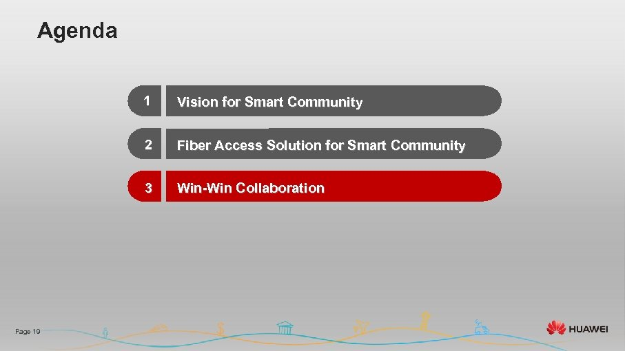 Agenda 1 2 Fiber Access Solution for Smart Community 3 Page 19 Vision for