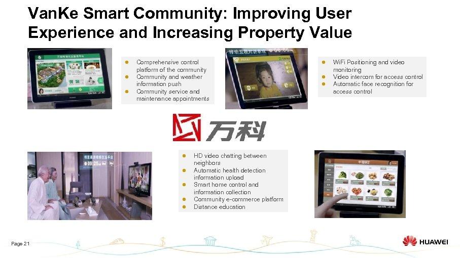 Van. Ke Smart Community: Improving User Experience and Increasing Property Value l l l