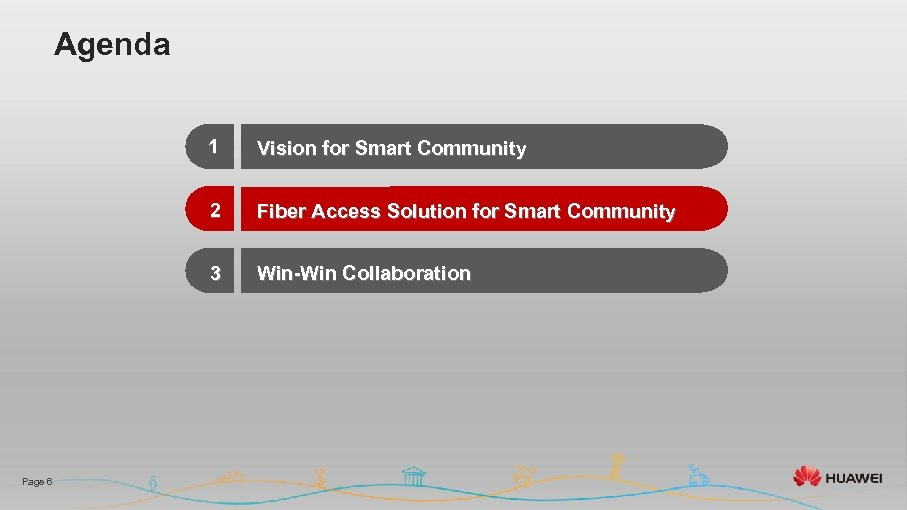 Agenda 1 2 Fiber Access Solution for Smart Community 3 Page 6 Vision for