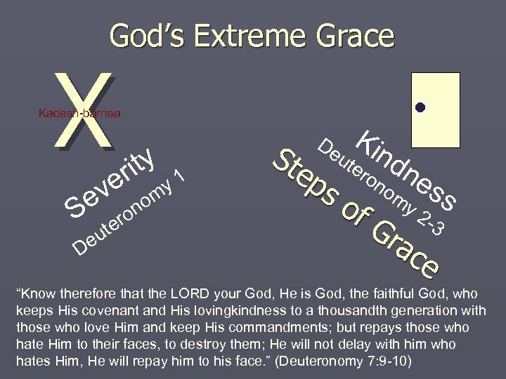 God's Extreme Grace X Kadesh-barnea ve e S no o ter u De ity