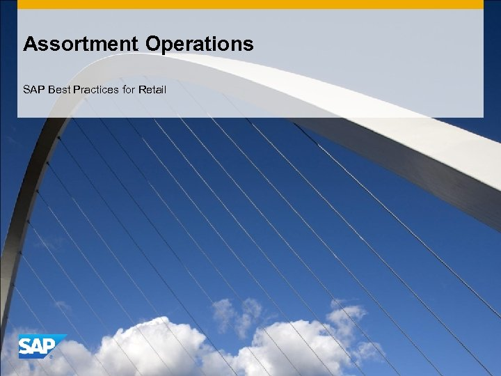 Assortment Operations SAP Best Practices for Retail