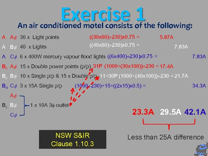 Exercise 1 An air conditioned motel consists of the following: A A 30 x