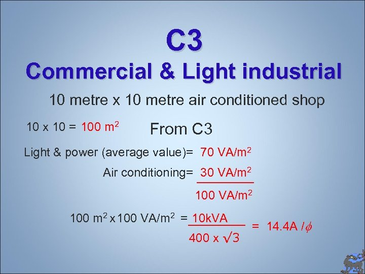 C 3 Commercial & Light industrial 10 metre x 10 metre air conditioned shop