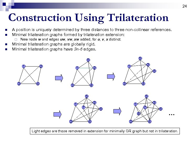 24 Construction Using Trilateration n n A position is uniquely determined by three distances