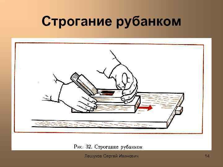Строгание рубанком Лешуков Сергей Иванович 14