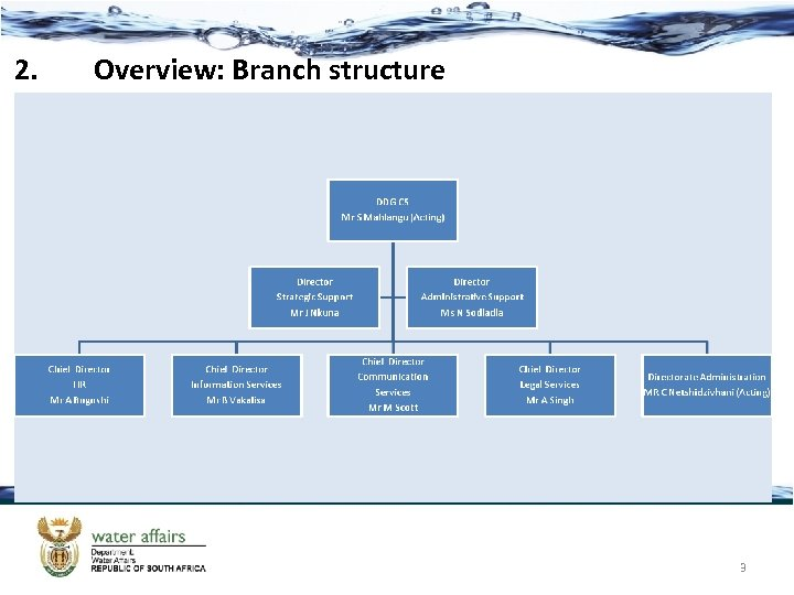 2. Overview: Branch structure 3