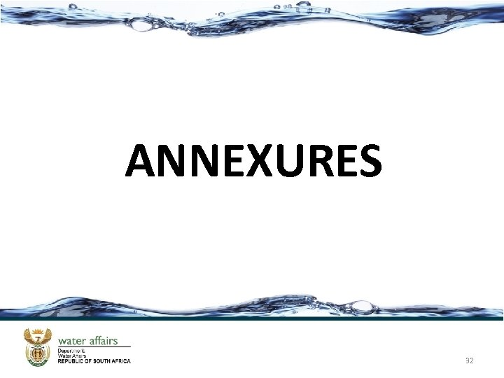 ANNEXURES 32