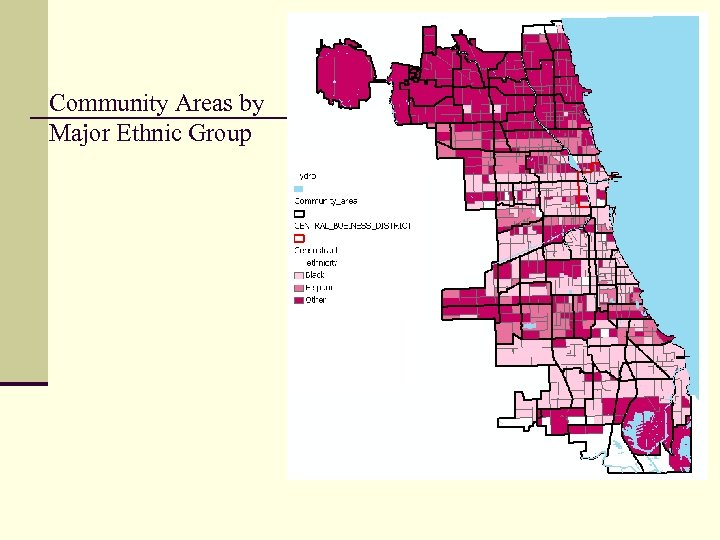 Community Areas by Major Ethnic Group