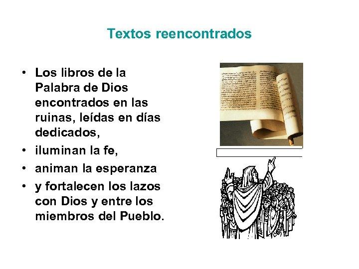Textos reencontrados • Los libros de la Palabra de Dios encontrados en las ruinas,