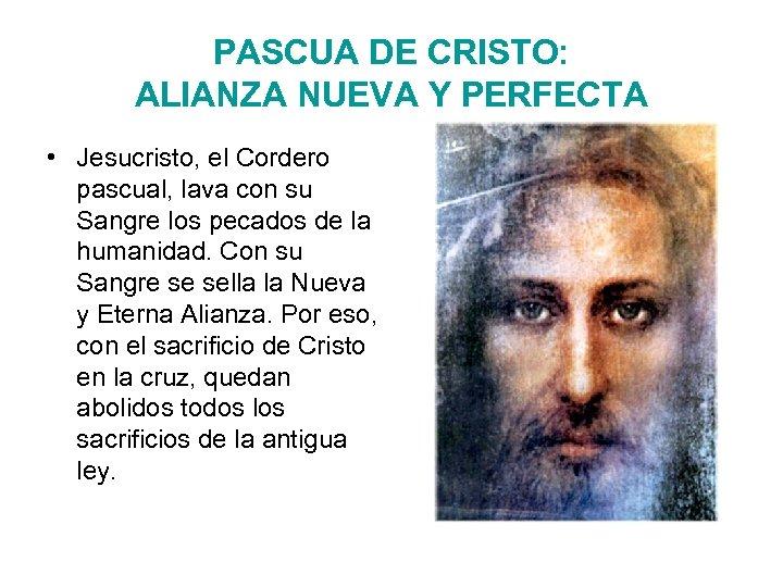 PASCUA DE CRISTO: ALIANZA NUEVA Y PERFECTA • Jesucristo, el Cordero pascual, lava con