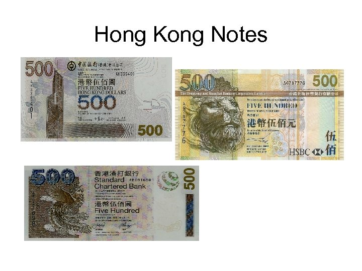 Hong Kong Notes