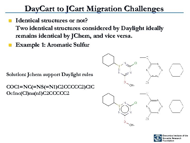Day. Cart to JCart Migration Challenges n n Identical structures or not? Two identical