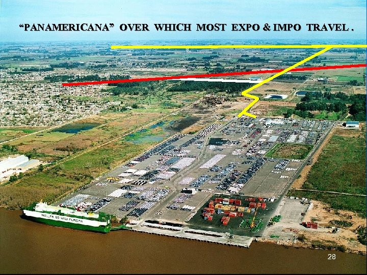 """""""PANAMERICANA"""" OVER WHICH MOST EXPO & IMPO TRAVEL. 28"""