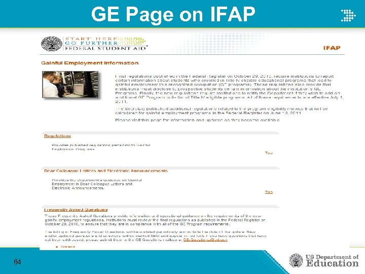 GE Page on IFAP 64