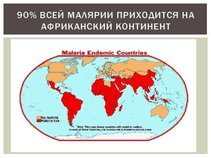 90% ВСЕЙ МАЛЯРИИ ПРИХОДИТСЯ НА АФРИКАНСКИЙ КОНТИНЕНТ