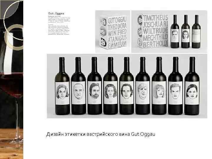 Дизайн этикетки австрийского вина Gut Oggau