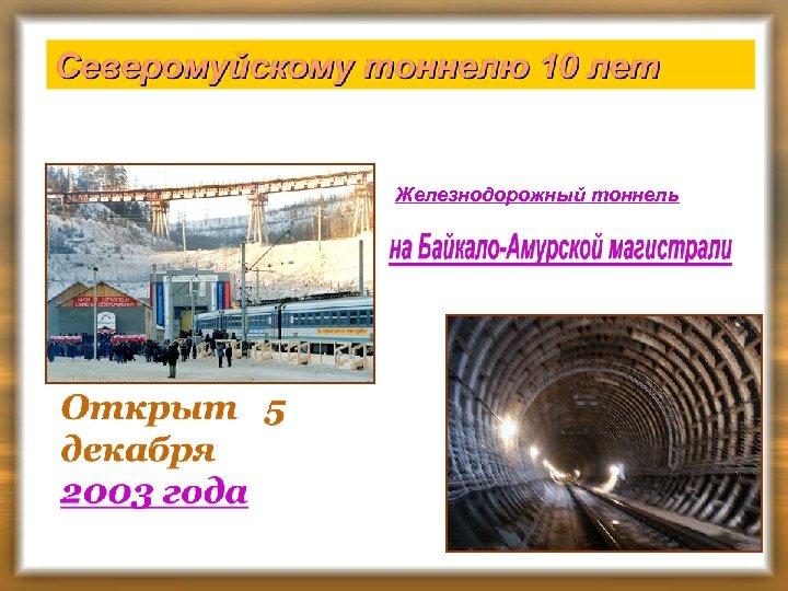 Железнодорожный тоннель