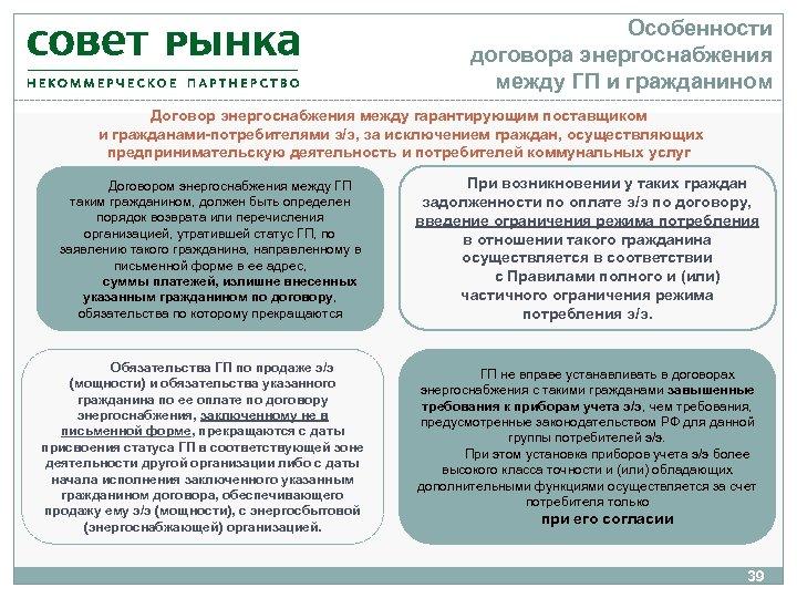 Особенности договора энергоснабжения между ГП и гражданином Договор энергоснабжения между гарантирующим поставщиком и гражданами-потребителями