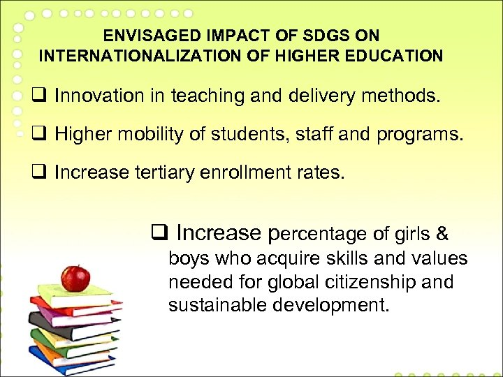 Women s access to higher education Impact on MDGs
